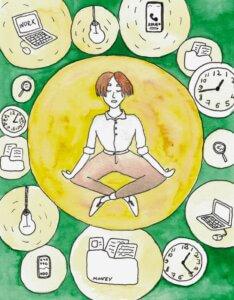 Стремление к расслаблению и избигание напряжения. Расслабление и напряжение чередуются в моменте... По ходу есть место паузе.